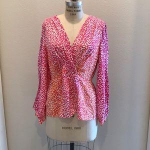 Silk BCBG MaxAzria pink and orange blouse